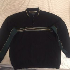 C&B Sport collared sweater w/front pockets